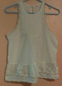 Hollister sleeveless cream top
